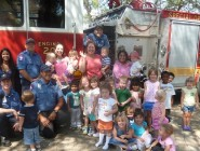 Community Helper's Month - visit from the fire fighters and fire truck to ACM